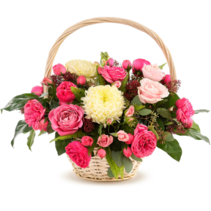 """Цветы в корзинке """"Цветочный коктейль"""""""